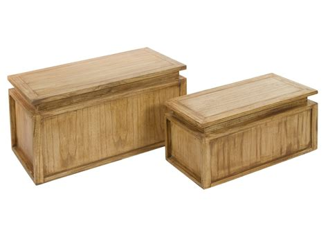 Arcones de madera de mindi envejecida - Baules decoracion