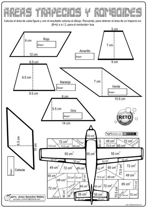 Área de trapecios y romboides   Actiludis