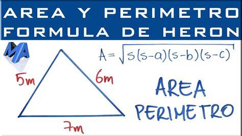Área del triángulo conociendo los tres lados | FÓRMULA DE ...