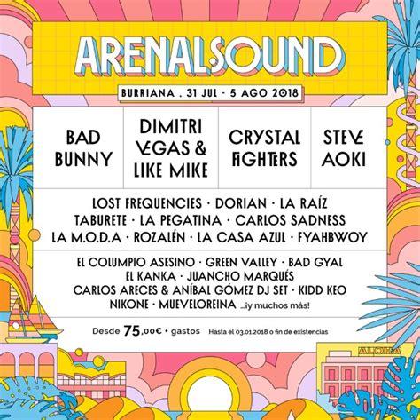Arenal Sound 2018: confirmaciones, rumores y entradas ...