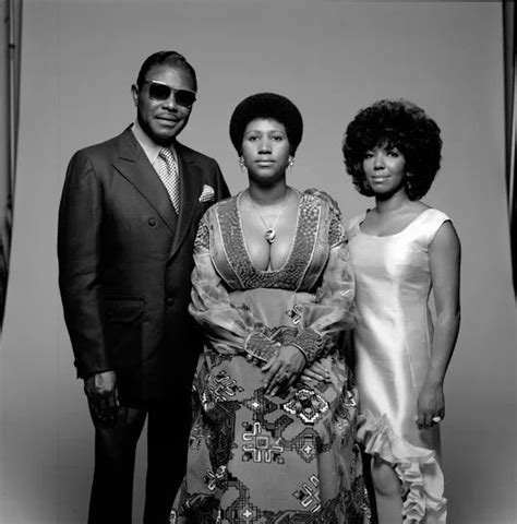 Aretha Franklin  Center , Rev. C. L. Franklin  b.1915   d ...