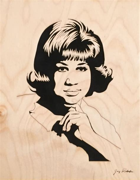 Aretha Franklin Portrait Respect Portrait by Jay