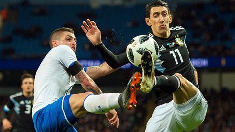 Argentina - Italia, en directo hoy el partido amistoso