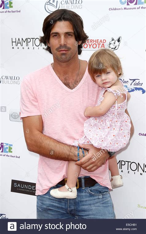Argentine polo player Nacho Figueras (L) and daughter Alba ...