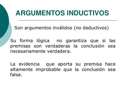 Argumentos Inductivos . Ex