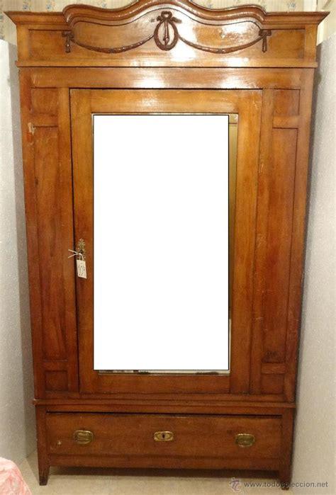 armario ropero con espejo madera de nogal siglo   Comprar ...