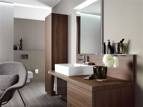 Armarios de baño y muebles lavabo de madera   50 ideas
