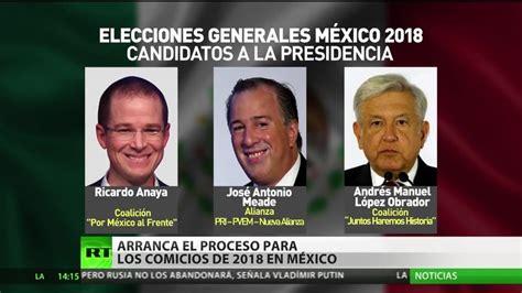 Arranca el proceso para los comicios de 2018 en México - RT