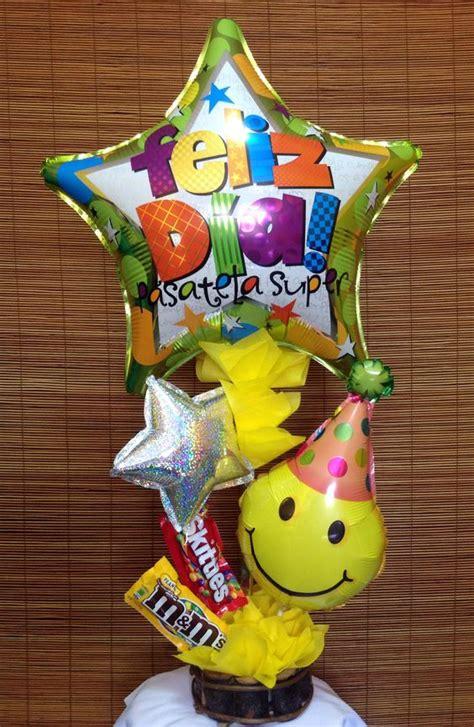 Arreglo de globo y chocolates, hecho por Manos Creativas ...