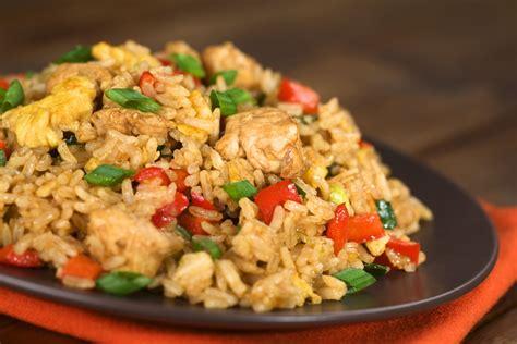 Arroz chino con pollo y vegetales   Cocina y Vino
