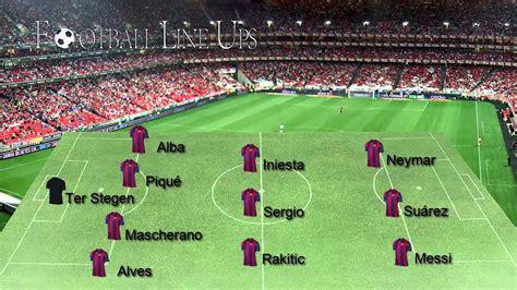 Arsenal 0-2 Barcelona (Barcelona Starting Lineup ...