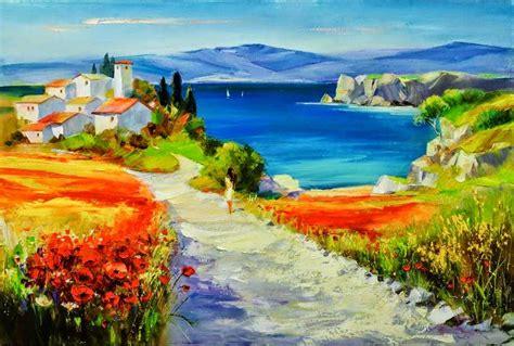 arte contemporaneo cuadros paisaje   óleos rural ...