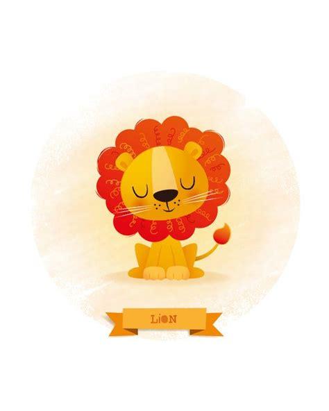 Arte infantil impresión de León Ilustración de por ...
