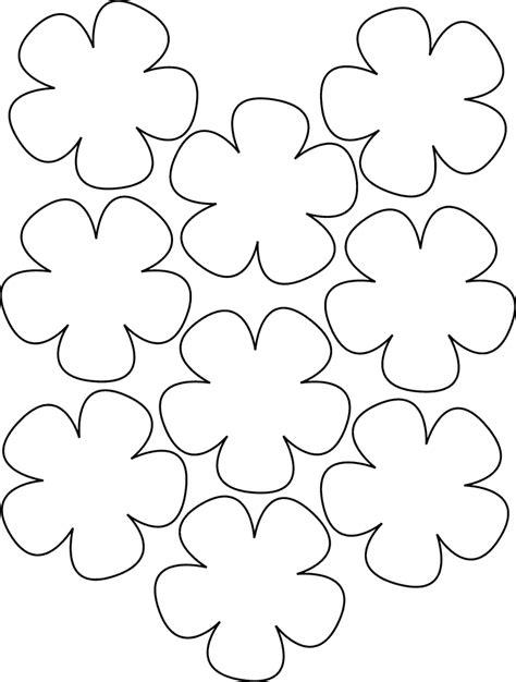 Artesanato em Feltro: molde de flores