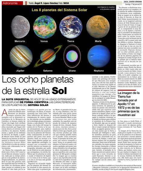Artículos de divulgación   Planetas del Sistema Solar | SEA