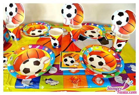 Artículos para fiesta de cumpleaños con temática deportiva ...
