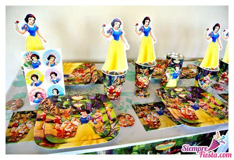 Artículos para fiesta de cumpleaños de Blancanieves y los ...