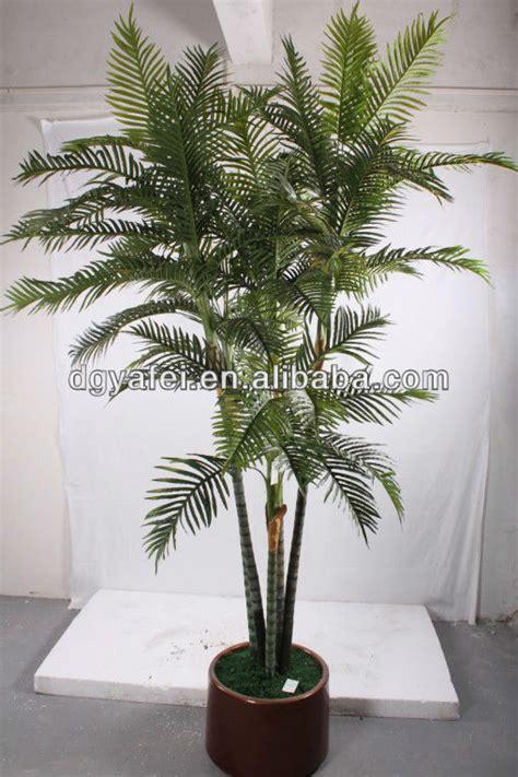 Artificial Bamboo Palm Leaves Plants,Green Pot Bonsai ...