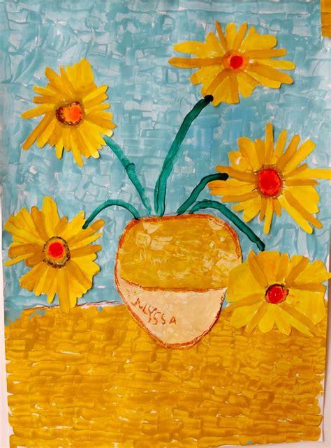 Arts visuels Maternelle Tournesols à la manière de Vincent ...