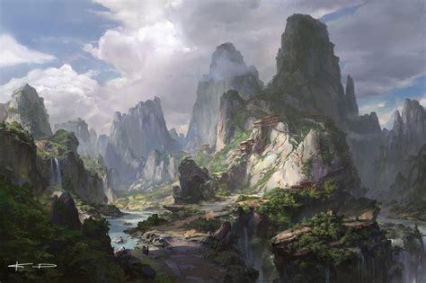 ArtStation - secret temple of the mountain, Stanton Feng