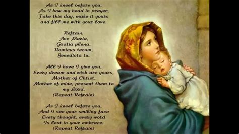 As I Kneel Before You Ave Maria - YouTube
