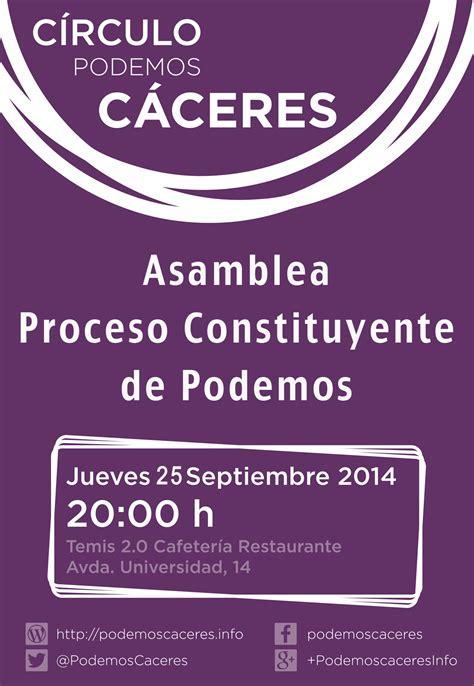 Asamblea Informativa Proceso Constituyente de Podemos