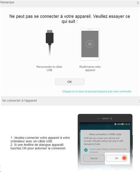 Ascend G7 L01 & Problèmes connexion à Hisuite   Huawei ...