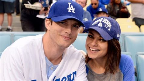 Ashton Kutcher and Mila Kunis Fly the Dodgers Flag -- Plus ...