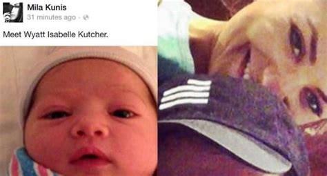 Ashton Kutcher, Mila Kunis name their baby Wyatt Isabelle ...