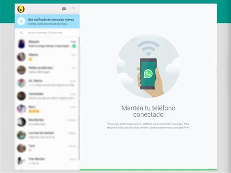 Así es WhatsApp web para ordenador
