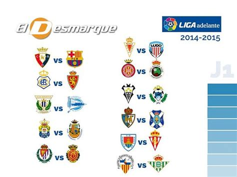 Así queda el calendario 2014 15 de la Liga Adelante