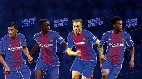 Así quedan los dorsales del FC Barcelona 2017 2018   FC ...