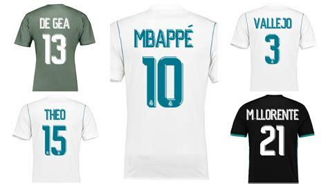 Así serían las camisetas de los fichajes del Real Madrid