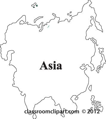 Asia Continent Clipart  16+