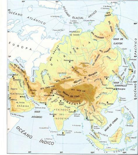 Asia física, mapamundi, Geografía Universal de ...