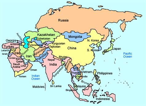 Asia Interactive Map for Kids – Click and Learn