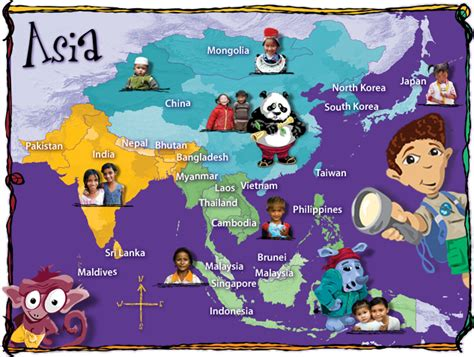 Asia Map For Kids   Mexico Map
