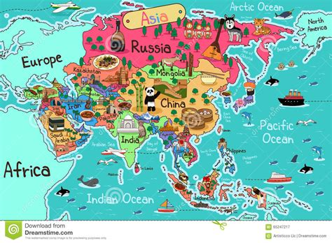 Asia Map stock vector. Illustration of illustration ...