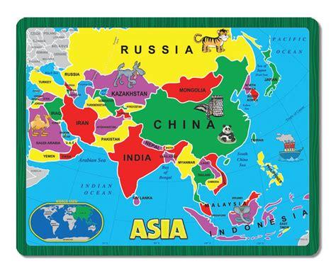 Asia  The Continent Puzzle  Children s Puzzles ...