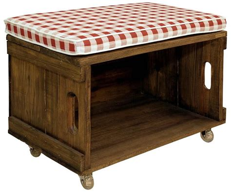 asiento con cajon de madera   muebles de huacales ...