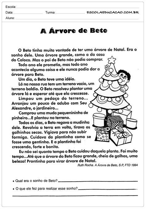 Atividades de Interpretação de Texto 3º ano   A Árvore de ...