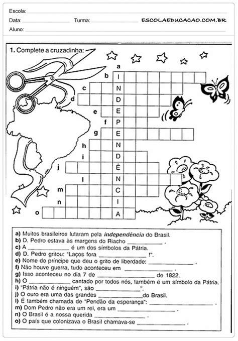 Atividades sobre a Independência do Brasil - Para Imprimir