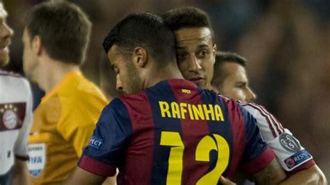 Atlético - Barça: Thiago celebra el gol de Rafinha