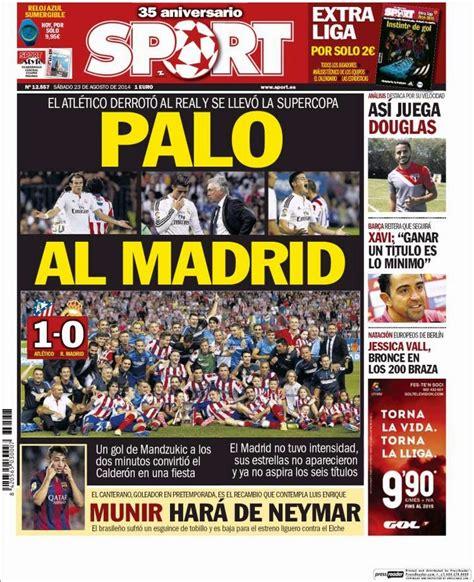 Atlético Madrid Supercampeón de España: Las portadas ...