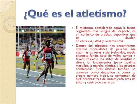 Atletismo: El deporte más sacrificado - ppt descargar