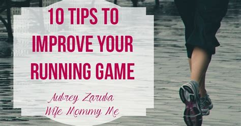 Aubrey Zaruba: 10 tips to improve your running