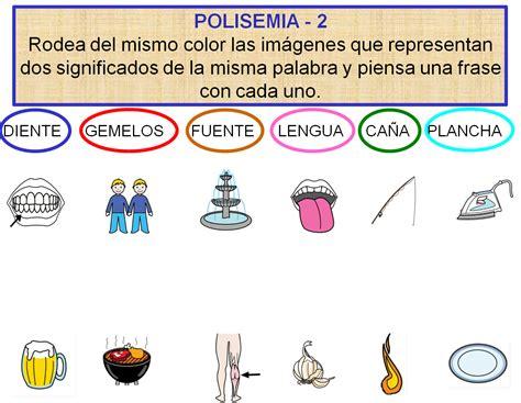 AUDICIÓN Y LENGUAJE: Relaciones entre palabras: Polisemia ...