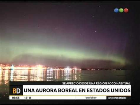 Aurora boreal en Estados unidos – Telefe Noticias - YouTube