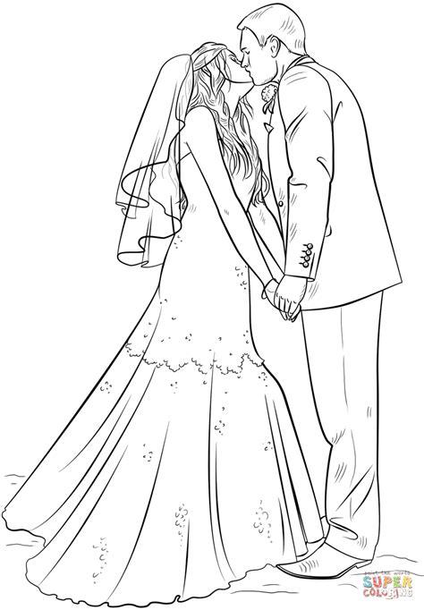 Ausmalbild: Braut und Bräutigam | Ausmalbilder kostenlos ...