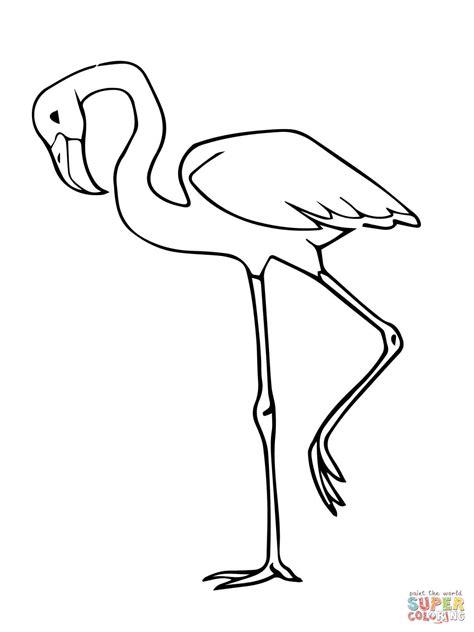 Ausmalbild: Rosa Flamingo | Ausmalbilder kostenlos zum ...